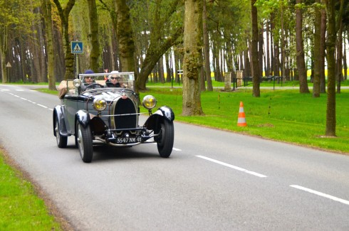 Vintage car at Vimy Ridge