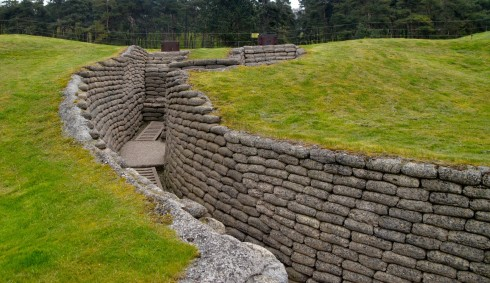 Canadian Forward Line at Vimy Ridge Trenches