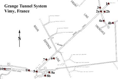Map Of France Vimy.Vimy Ridge Trenches Exploring The Vimy Ridge Battlefield