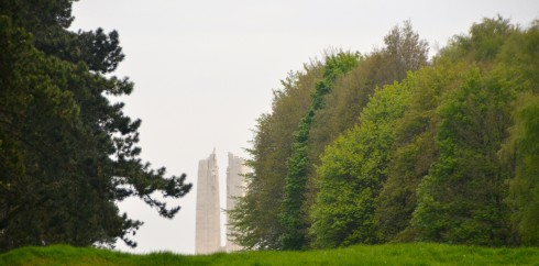 Vimy Ridge Monument from forward lines
