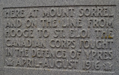 Mount Sorrel Memorial