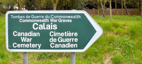 Calais War Cemetery Sign