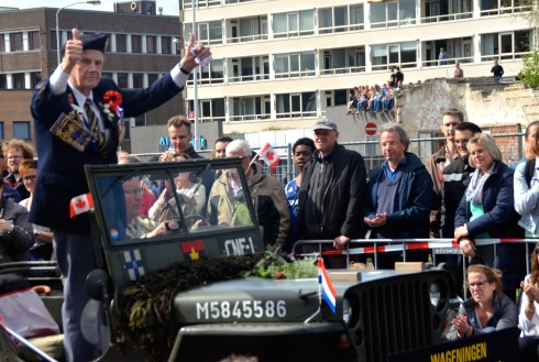 Here come the Vets at the Wageningen Liberation Parade