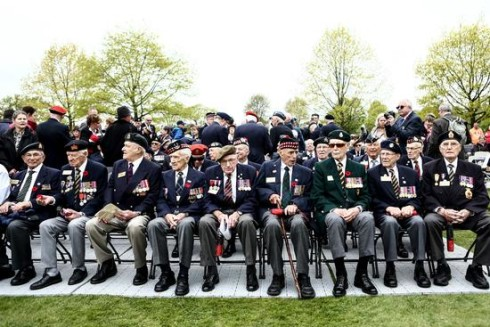 The liberation of Holland ceremony - attending Canadian vets
