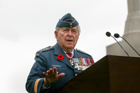 Major-General Richard Rohmer speaking about the liberation of Holland
