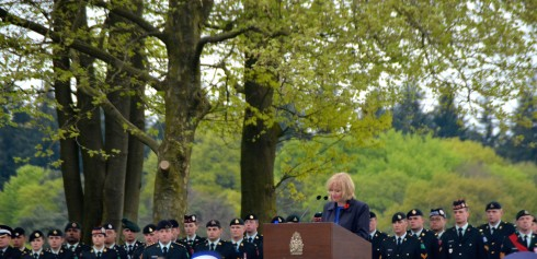 Laureen Harper marking the liberation of Holland