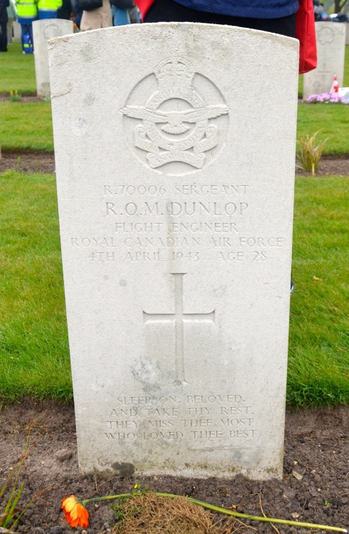 Robert Osborne Mitchell Dunlop who died during the liberation of Holland