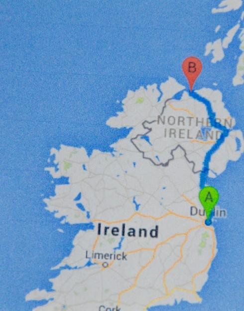 Dublin to Castlerock