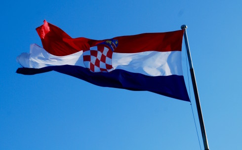 Croatian Flag atop Marjan