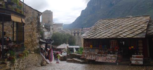 Narrow Street of Mostar, Bosnia and Herzegovina
