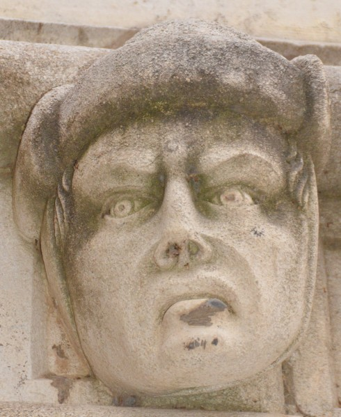 Sculpted Head - St. James Cathedral, Sibenik