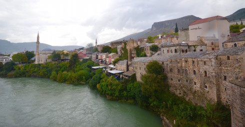 View from Mostar Bridge, Bosnia and Herzegovina