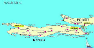 Korcula Croatia map