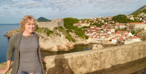 Alison on the walls of Dubrovnik