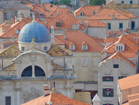 St. Blaise Church from the walls of Dubrovnik
