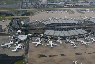 Aerial viewv of Charles de Gaulle Airport