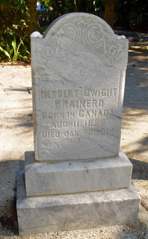 Herbert Brainard, Captiva Cemetery