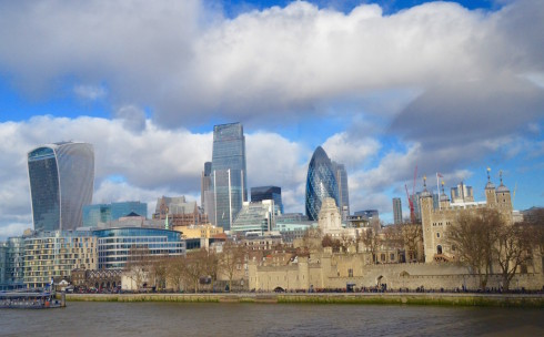 Tower of London with skyline