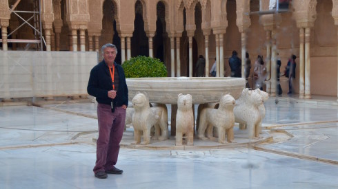 Alhambra Spain - In the Patio of the Lions