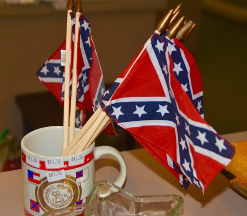Confederate Flags in Jefferson Davis Museum