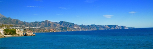 View of the coastline at Nerja