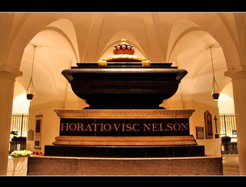 Nelson's tomb in St. Paul's Cathedral