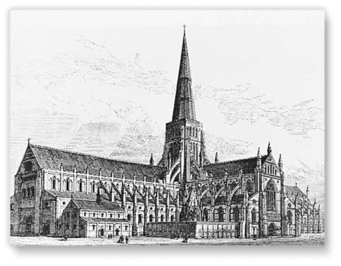 The original St. Paul's Cathedral