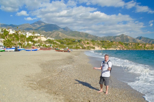 The beach at Nerja