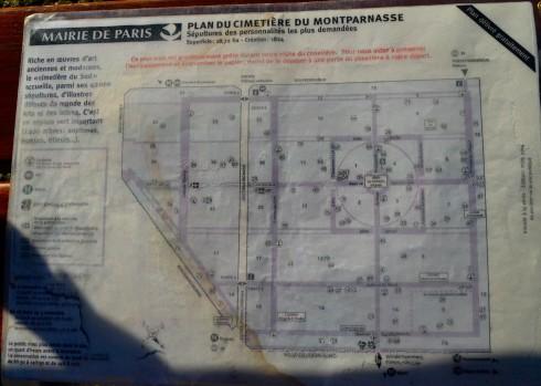 Montparnasse Cemetery Map