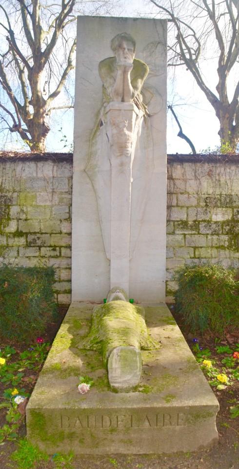 Baudelaire Cenotaph - Montparnasse Cemetery