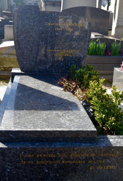 Chapour Bakhtiar - Montparnasse Cemetery