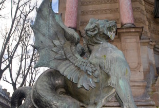 Latin Quarter Paris dragon