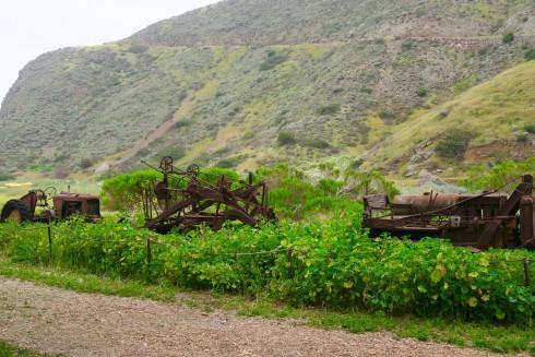 Old Farm Machinery on Santa Cruz Island