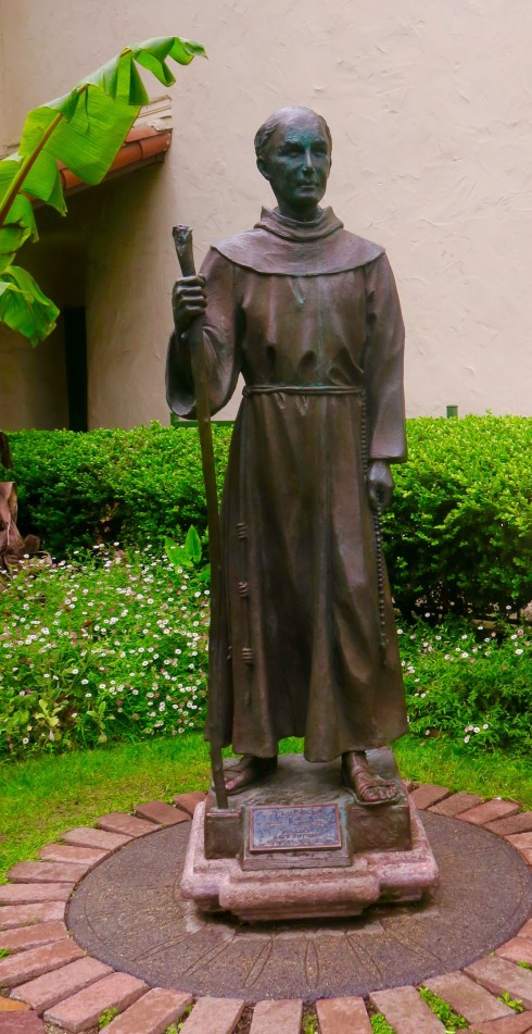 Statue of Father Serra on the missions grounds Ventura California