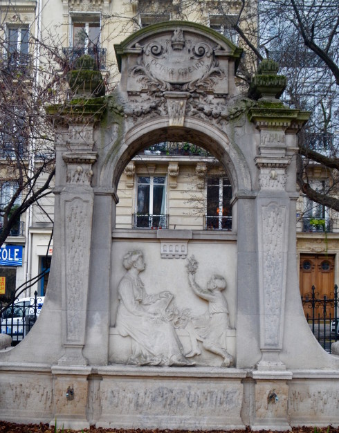 Fountain in the Latin Quarter Paris