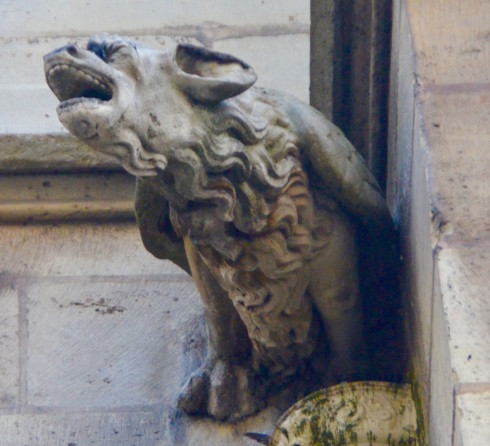 Latin Quarter Paris gargoyle