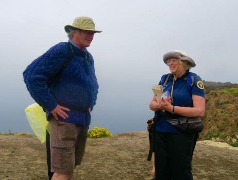 Docent on Santa Cruz Island