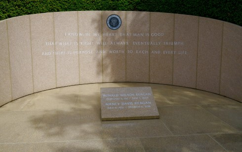 Graves of the Reagans at the Reagan Library