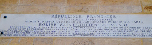sign in the Latin Quarter
