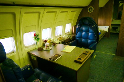 Reagan Library presidential desk in Air Force One