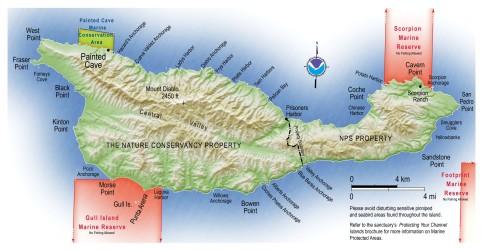 Santa Cruz Island Map