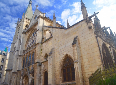 Exterior shot of St. Severin, Latin Quarter Paris