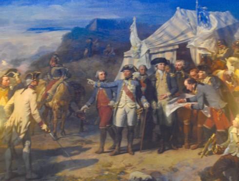 Painting of Washington at Versailles