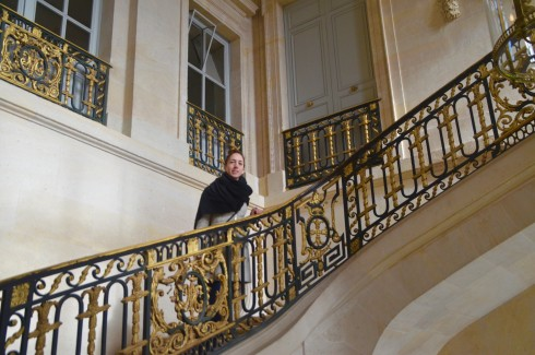 On the Petit Trianon Staircase