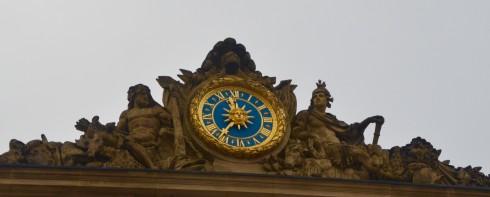 Visiting Versailles - Entranceway Clock