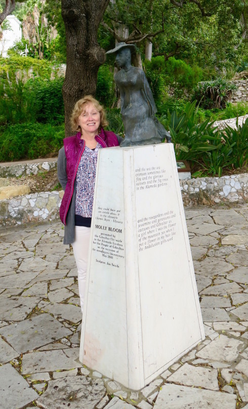City of Gibraltar monument to Molly Bloom