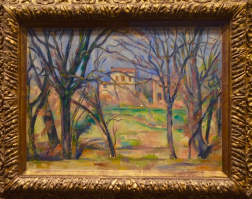 Cezanne - Trees and Houses - The Orangerie