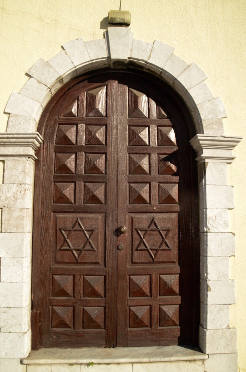 Door to the Synagogue, city of Gibraltar