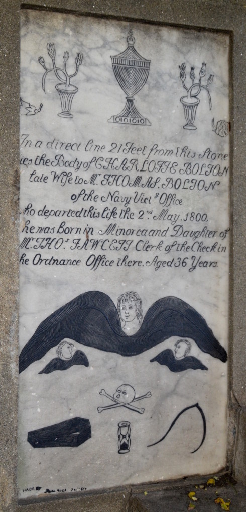City of Gibraltar folkloric tombstone