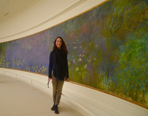 Lenore with Monet's Water Lilies, Morning - The Orangerie